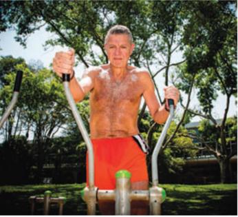 Praticar exercícios físicos fez Marco Antonio ganhar até mais paciência.